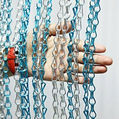 Aluminium Metal Chain Strip Link Curtain Bug Door Fly Pest Insect Blinds Screen • 29.98£