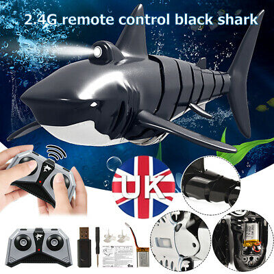 2.4G Remote Control Simulation Electronic Shark Fish RC Boat Prank Toys Xmas • 16.59£