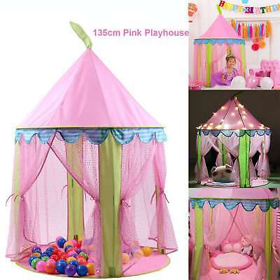 Princess Fairy Castle Tent Playhouse Garden Outdoor Play Tent House For Fun Tent • 14.99£