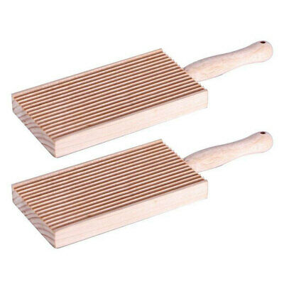 AU9.95 • Buy 2x Avanti Wooden 20cm Kitchen Rectangular Pasta Gnocchi Board Maker/Paddle Brown