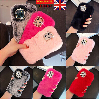 Soft Warm Plush Fluffy Phone Case Cover Comfy Faux Fur For IPhone 11Pro XS 7 8 • 5.88£