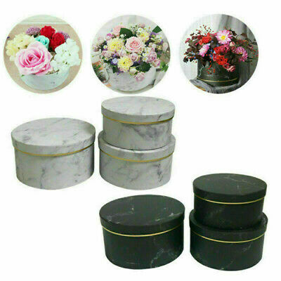 3PCS Florist Hat Boxes Christmas Flowers Valentine's Day Gifts Living Vase UK • 13.29£