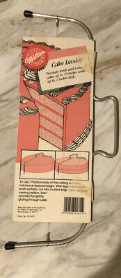 Wilton Cake Leveler Metal/Wire Baking Tool Original Package Preowned Vintage • 5.69£