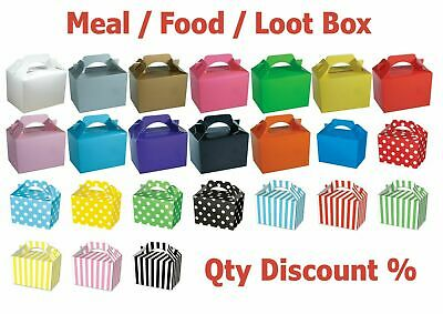 £3.55 • Buy Coloured Party Boxes Children Kids Food Loot Lunch Gift Bags Birthday Box Bags
