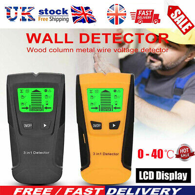 £12.59 • Buy Electric Wall Stud Finder Cable Detector AC Wire Scanner Live Test Metal Finder