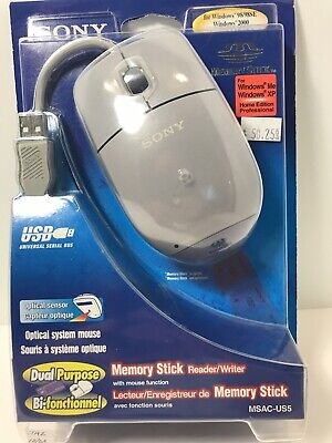 £30.54 • Buy NOS NIB Sony MSAC-US5 USB Mouse With Memory Stick Read Write FREE SHIPPING