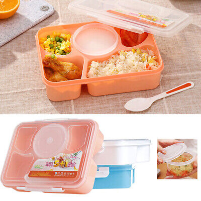 5 Cells Bento Lunch Box For Kids With 5 Compartments Leakproof Food Container • 5.99£