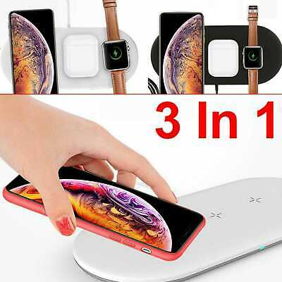 AU23.88 • Buy 3in1 10W Wireless Charger Charging Dock Station For Apple Watch / IPhone/Air Pod