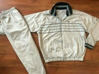 MENS Full LACOSTE TRACKSUIT Top & Bottoms (8/XXL) *GREAT COND* • 80£