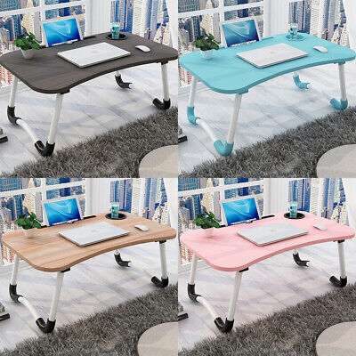 Laptop Bed Tray Table Portable Lap Desk Notebook Breakfast Tray Cup Slot Holder • 12.98£