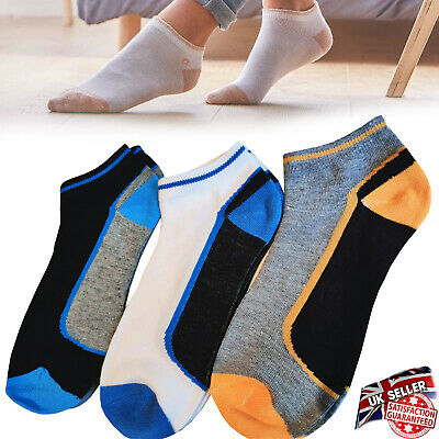 £3.99 • Buy 6 Pairs Mens Trainer Liner Ankle Socks Funky Designs Adults Sports GYM SKI 6-11