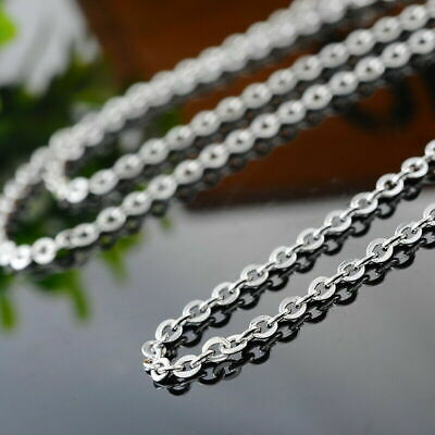 17 -27  Silver Stainless Steel Hypoallergenic Mens Womens Chain Necklace • 3.99£