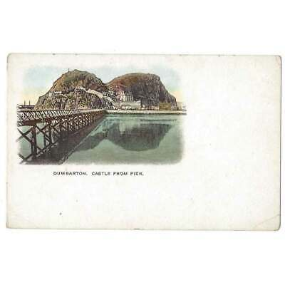 DUMBARTON CASTLE Early Vignette Postcard With Undivided Back, Unused • 3.95£