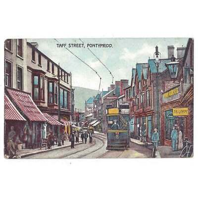 PONTYPRIDD Taff Street, Old Postcard By Morgan Bros, Unused • 7.50£