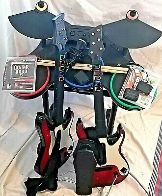 $ CDN399.99 • Buy PS3 Guitar Hero 5 Band Drums 2x Red Octane Dongles ROCKBAND PEDAL WORKS LOOK!