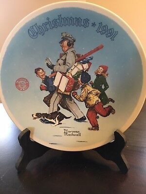 $ CDN12.67 • Buy 1991 Norman Rockwell  Santa's Helper  Plate, Box & COA Included # 2817D