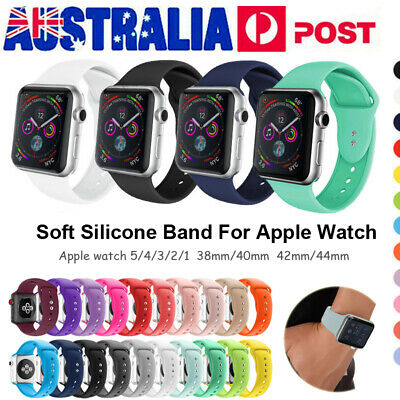 AU9.99 • Buy Silicone Sports IWatch Band Strap For Apple Watch Series 6 5 4 3 40/44mm 38/42mm