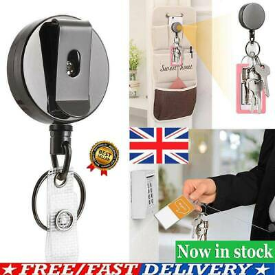 1X Telescopic Wire Rope Anti Lost Keychain Retractable KeyRing Finder Gadget UK • 4.08£