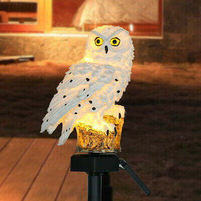 LED Garden Owl Solar Lights Patio Yard Lawn Waterproof Stake Lamp Party Xmas • 9.98£