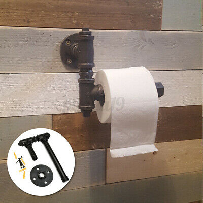 AU18.99 • Buy Industrial Toilet Paper Roll Iron Pipe Shelf Holder Rustic Bathroom Decor 3/4