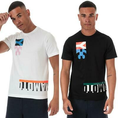 £38.94 • Buy Mens Y-3 Multi Block Graphic Crew Neck Cotton T-Shirt, White, And Black