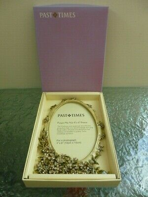 Past Times Enamelled Forget Me Not Photo Picture Frame 4x6  • 29.99£
