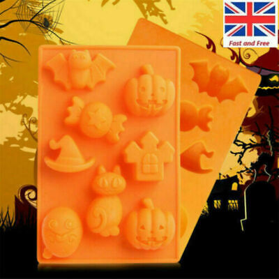 Halloween Chocolate Silicone Mold Mini Fandont Sugar Cake Ice Candy Jelly Mould • 3.77£