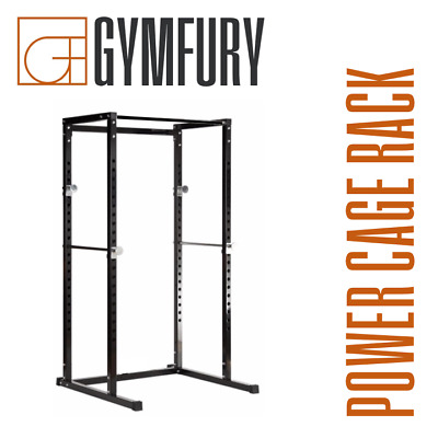 Olympic Power Cage Rack Barbell Adjustable Bench Press Weight Power Stand Squat • 225£