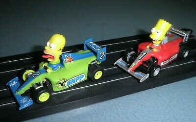 Micro Scalextric The Simpsons F1 Cars • 18.50£