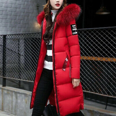 Winter Warm Womens Puffer Fur Long Quilted Parka Ladies Down Coat Hooded Jacket • 21.88£