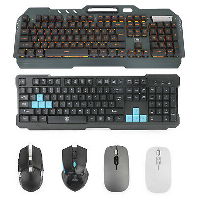 AU64.89 • Buy Backlit Gaming Keyboard With Cordless Cordless Mouse DPI Control Sets