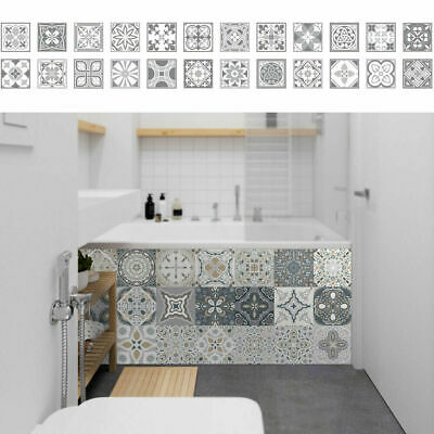 £5.69 • Buy 24X Self-Adhesive Moroccan Style Tile Wall Stickers DIY Kitchen Bathroom Mosaic