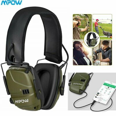 MPOW Electronic Ear Defenders Shooting Protector Earmuffs Active Noise Reduction • 30.99£