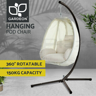 AU282.95 • Buy Gardeon Outdoor Furniture Lounge Swing Chair Egg Hammock Porch Hanging Pod Stand