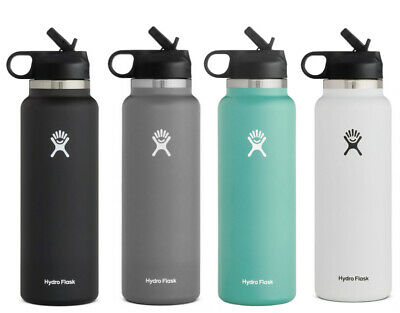 $36.99 • Buy Hydro Flask Water Bottle 40 Oz - Wide Mouth Straw Lid 2.0 - Multiple Colors
