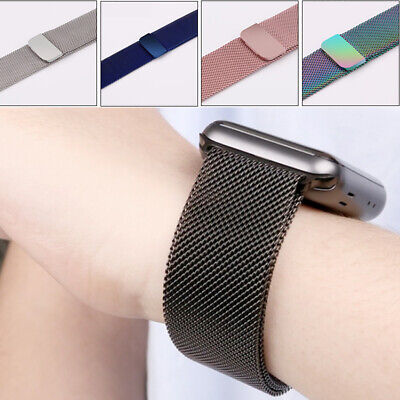 $ CDN5.99 • Buy For Apple Watch Series 1/2/3/4/5 IWatch Band  Loop Strap Milanese Bracelet CA