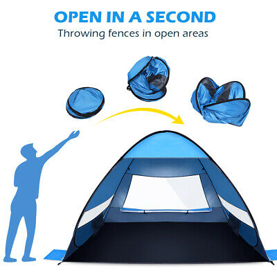 AU45.67 • Buy MOVTOTOP Mountview Pop Up Beach Tent Camping Hiking Tents 4Person Shelter AU