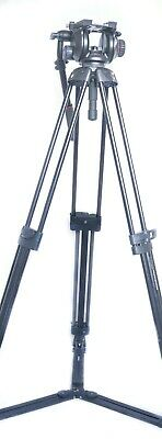 Manfrotto 546GBK Video Tripod With 504HD Head, Ground Spreader And Bag • 475£