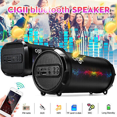 AU21.41 • Buy Portable Wireless Bluetooth Speakers Stereo Bass USB/TF/ Radio Outdoor Subwoofer