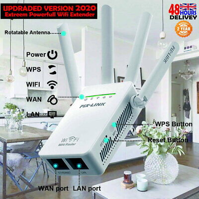 Wireless WiFi Signal Range Extender Repeater Network Booster Amplifier Internet • 13.99£
