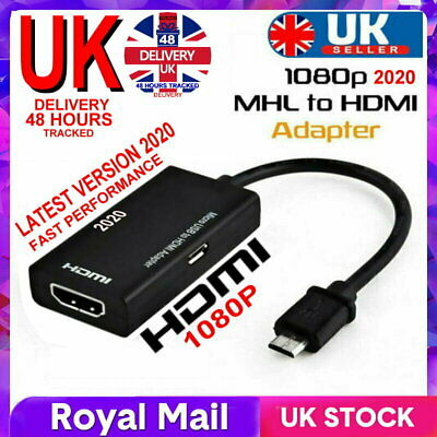 £3.99 • Buy Micro USB To HDMI 1080P HD TV Cable Adapter For Android Smart Phone Samsung UK