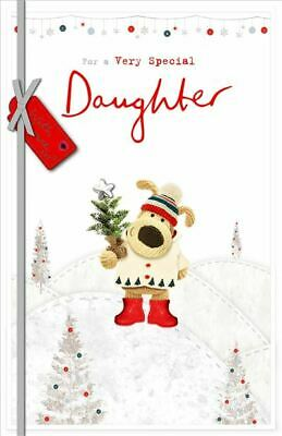 £7.05 • Buy Very Special Daughter Boofle Hoding Pot Design Christmas Card