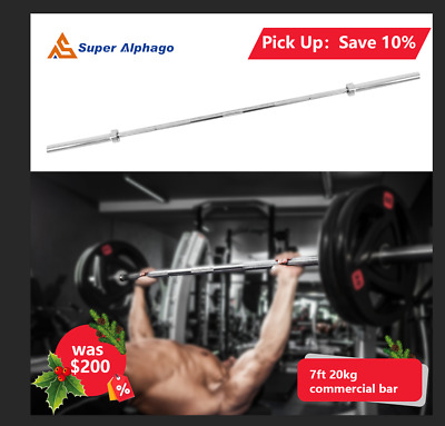 AU189.99 • Buy 7 Ft 20 Kg Commercial Olympic Barbell With Collars For Weight Lifting