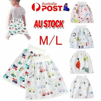 AU13.96 • Buy 2in1 Childrens Diaper Skirt Shorts Nappies (Cloth) Toddler Absorbent Change AU