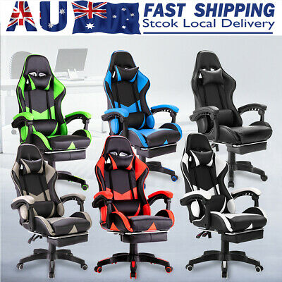 AU134.99 • Buy Gaming Chair Office Executive Computer Chairs Seating Racing Recliner AU STOCK