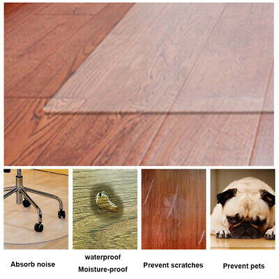 AU18.23 • Buy For Carpet Solid Home Office Chair Mat Living Room PVC Transparent Anti Scratch