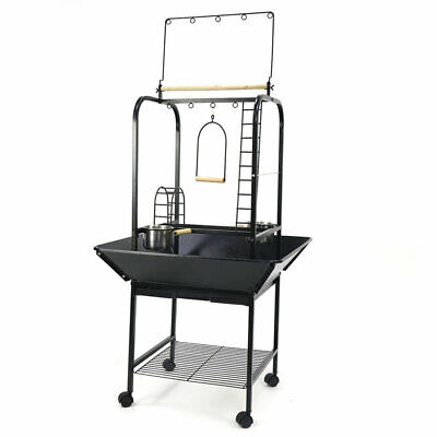 Parrot Play Stand African Grey  Amazon Cockatoo Bird Play Gym Stand With Casters • 71.99£