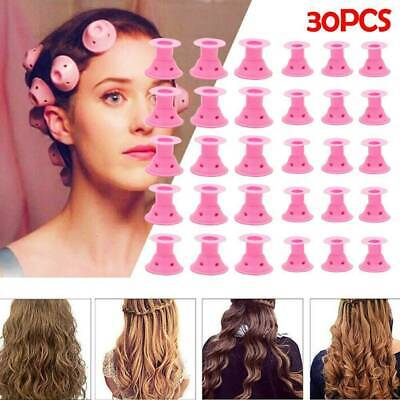 30pcs Magic Soft Roller No-Heat Hair Curlers Roller DIY Silicone Hair Care Tool, • 7.88£