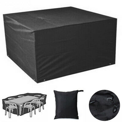 Waterproof Heavy Duty 4/6/8 Seater Garden Table Chair Furniture Rattan Set Cover • 16.74£