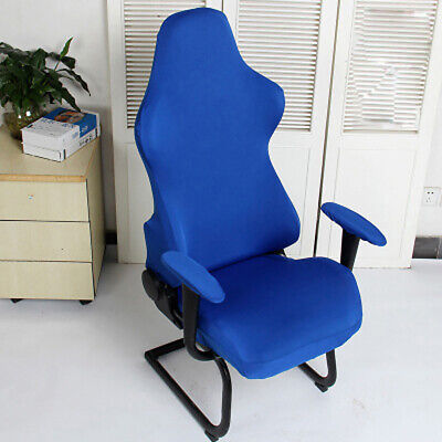 AU28.80 • Buy Computer Seats Home Office Spandex Chair Covers Washable Reusable Soft Armchairs